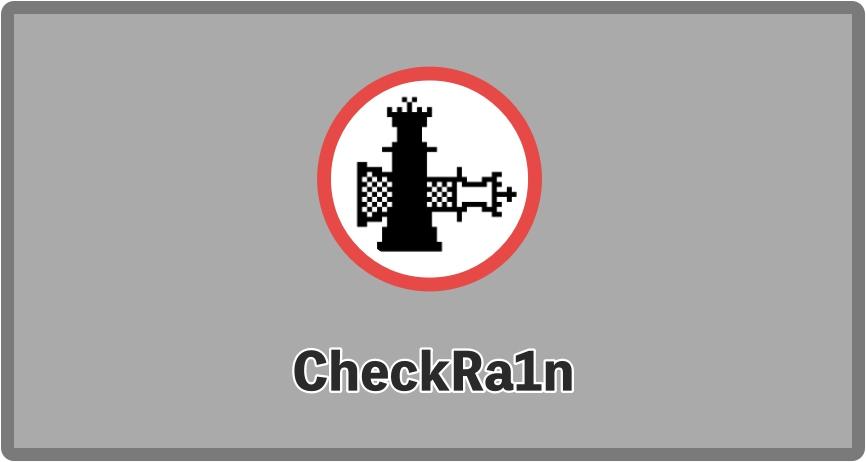 checkra1n app checkrain pctablet